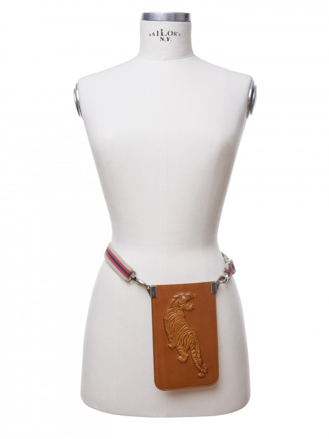 PCT 03 Phone Tiger cognac Candy Belt
