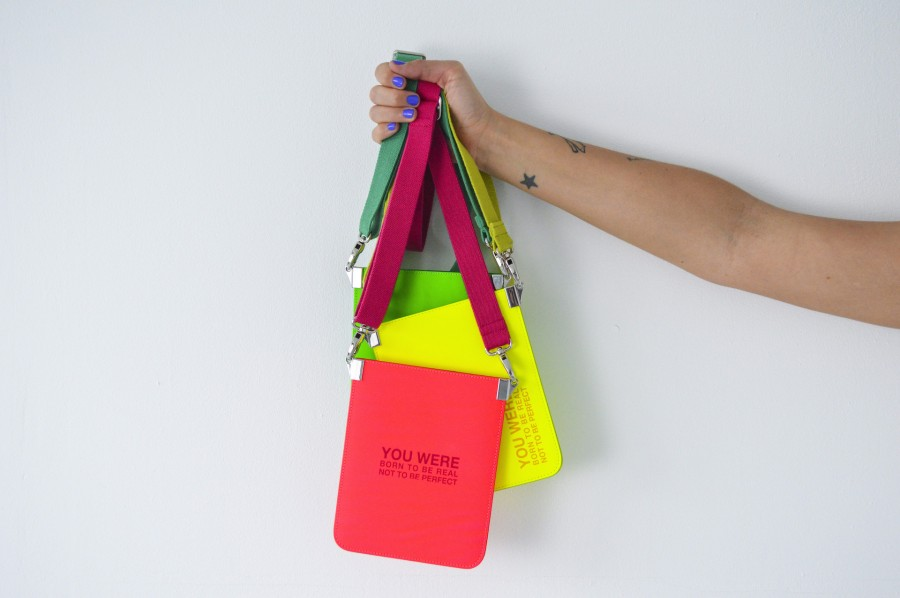 Born to be real phonebag neon